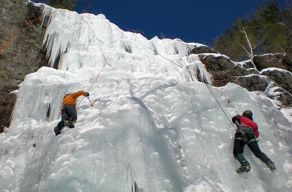Ice-Climbing Adventurer