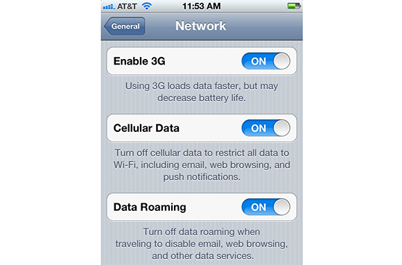 Turn Off Data
