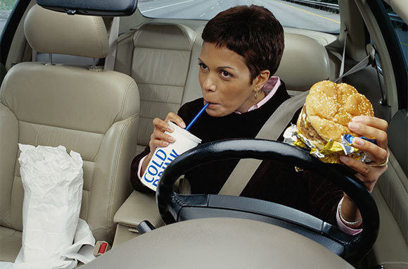 Don't Eat While Driving in Cyprus