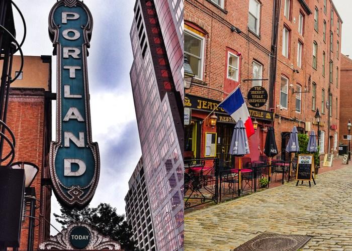 Portland Maine and Oregon