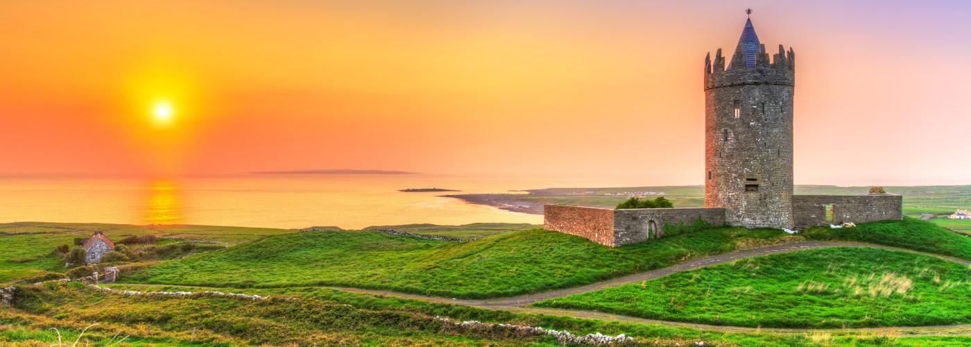 Ireland Castle Sunset