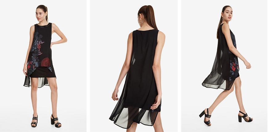 siena black layers dress