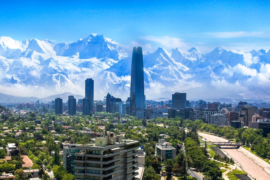 Santiago Chile cityscape.