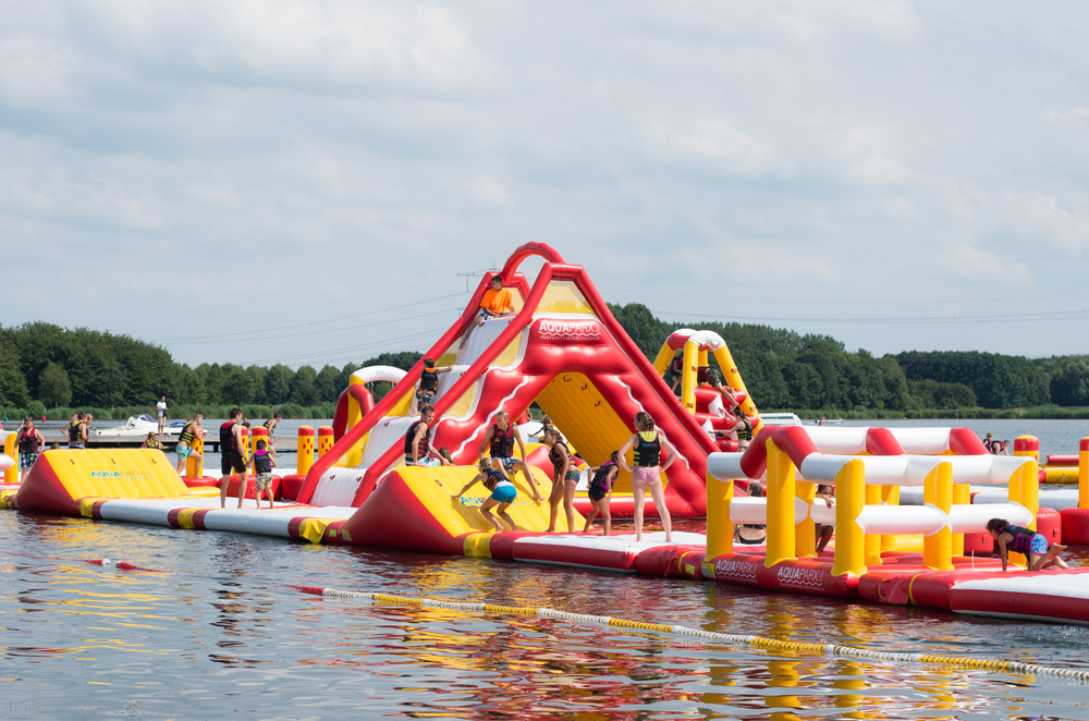 Inflatable obstacle park