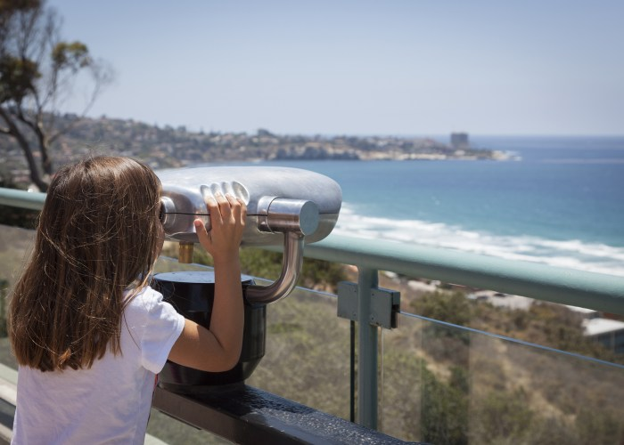 child looking out over la jolla