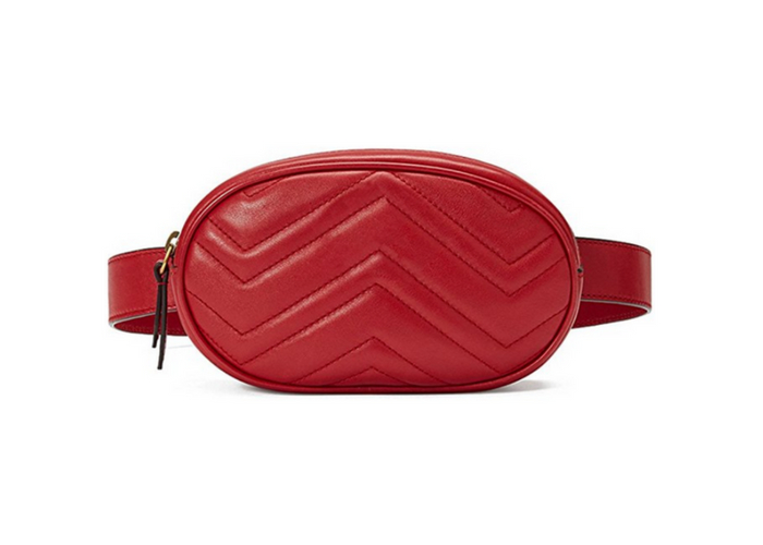 Leather elegant fanny pack