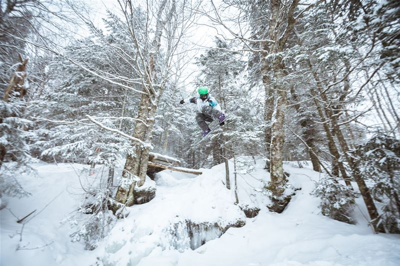 Bolton valley ski resort in vermont, usa