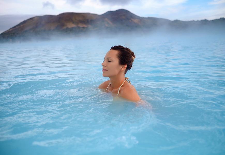 woman blue lagoon iceland