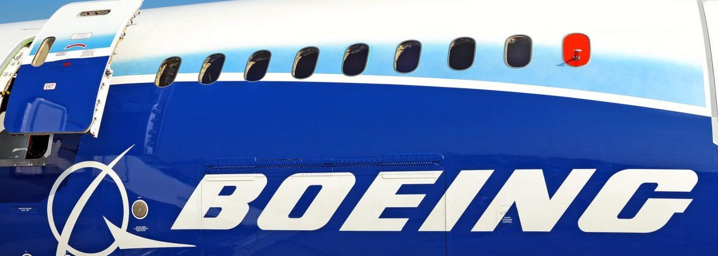 Boeing logo on a 787 Dreamliner