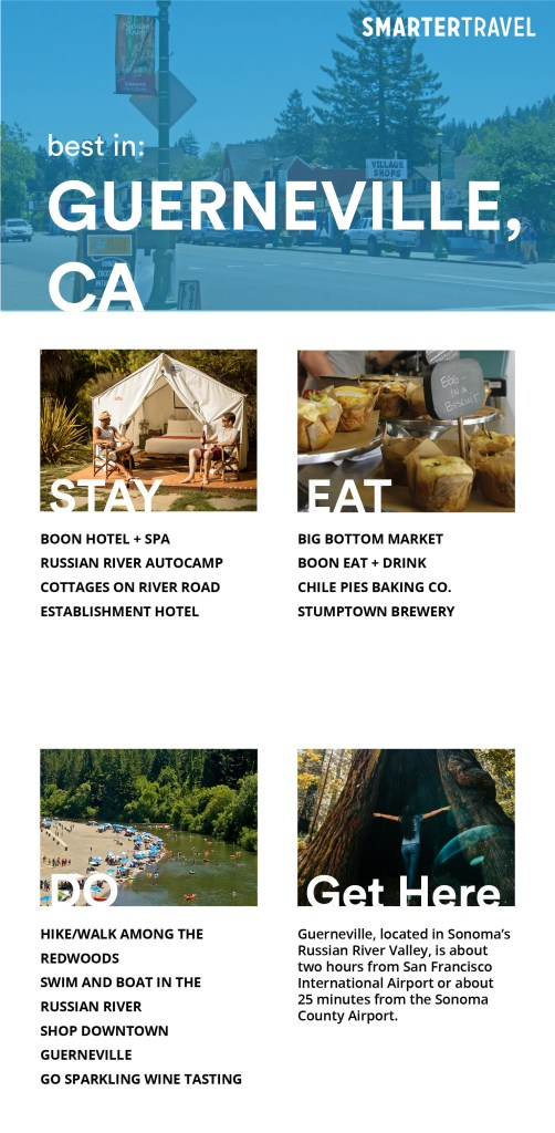 where to stay, eat, and play in guerneville, california