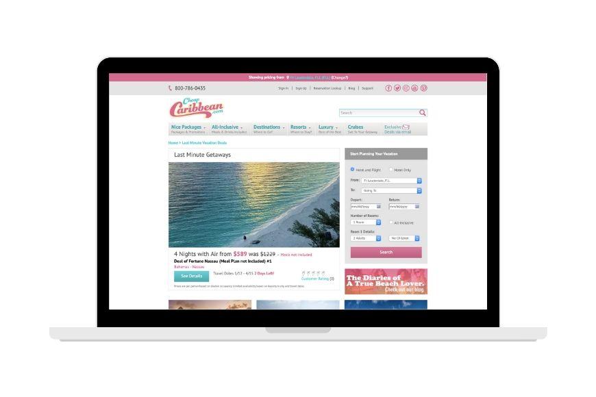CheapCaribbean.com screenshot