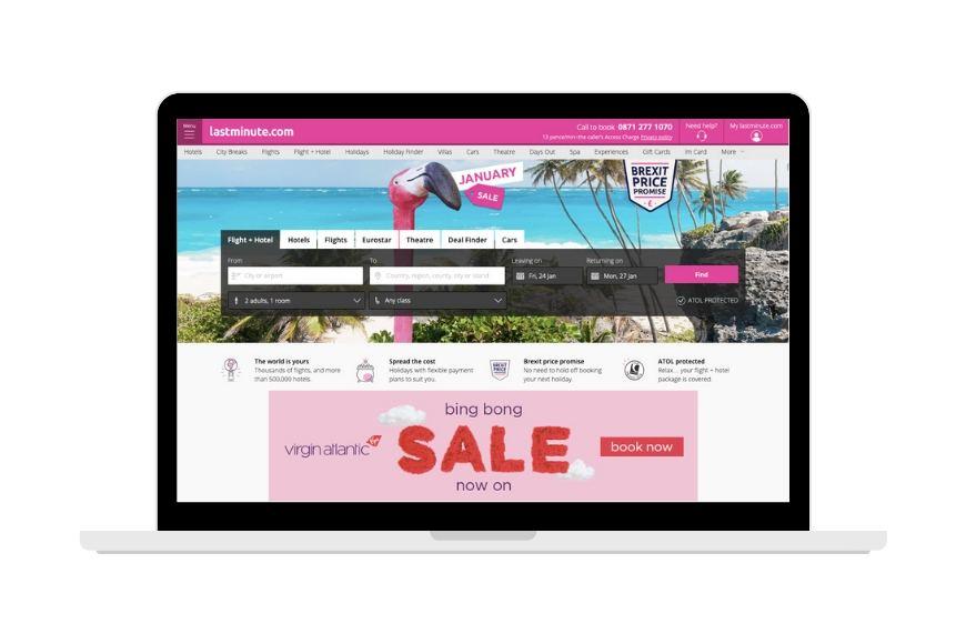 LastMinute.com screenshot