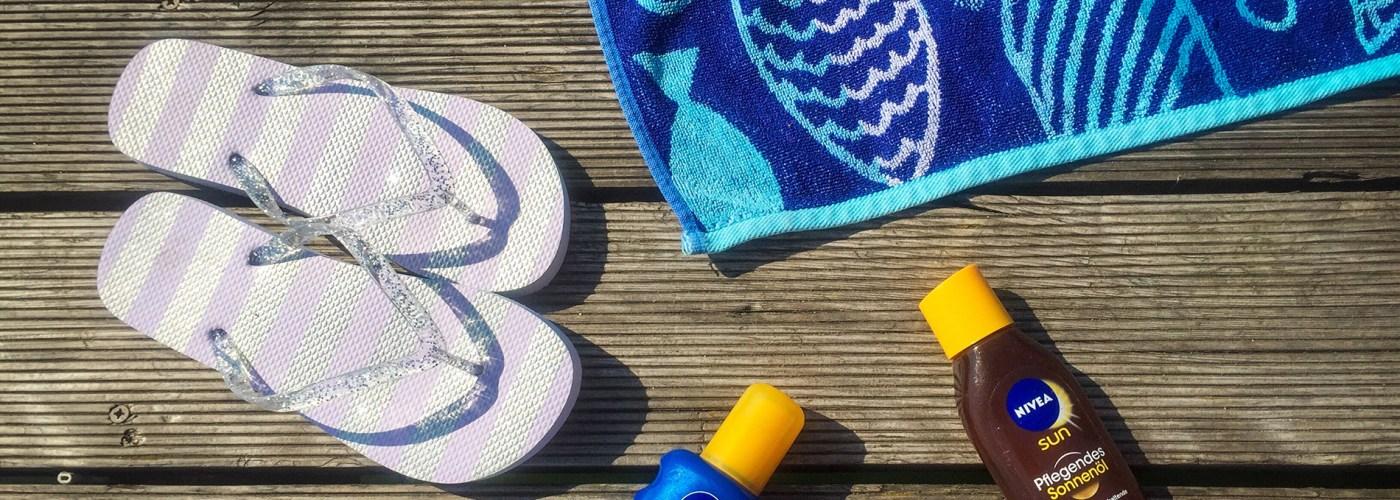 sunscreen on boardwalk