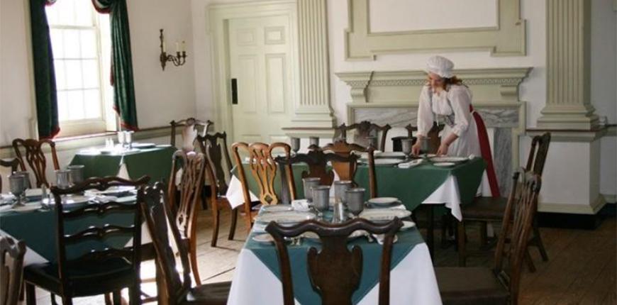 dining room at city tavern philadelphia.