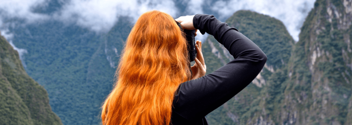 redhead photographer Andes mountains.