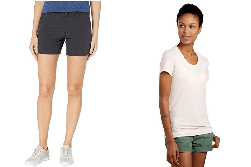 Patagonia capilene cool lightweight shirt and strider shorts.