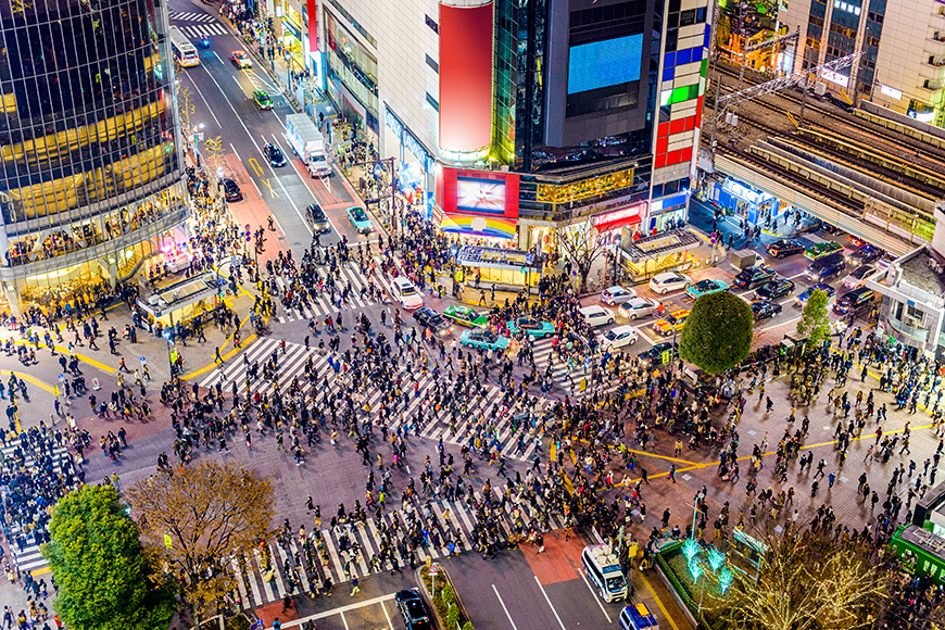 shibuya crossing tokyo japan.
