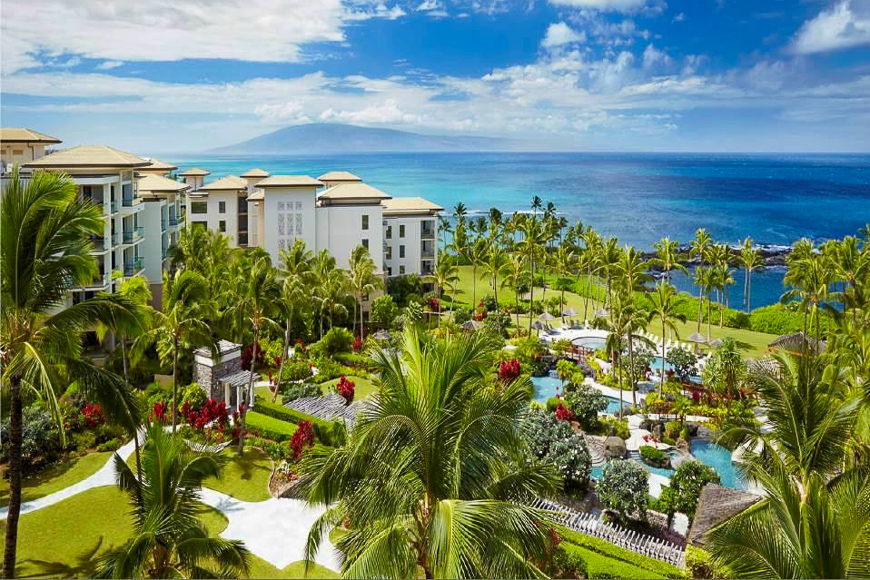 Montage Kapalua Bay view of pool and beach