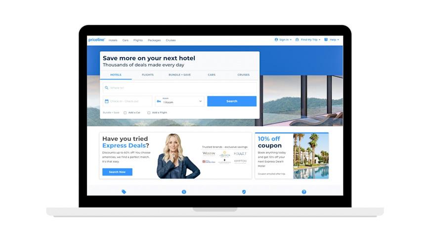 Priceline hotel booking site screenshot