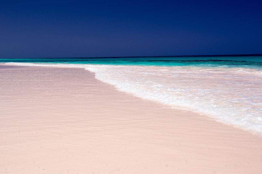 pink sands beach harbour island bahamas.