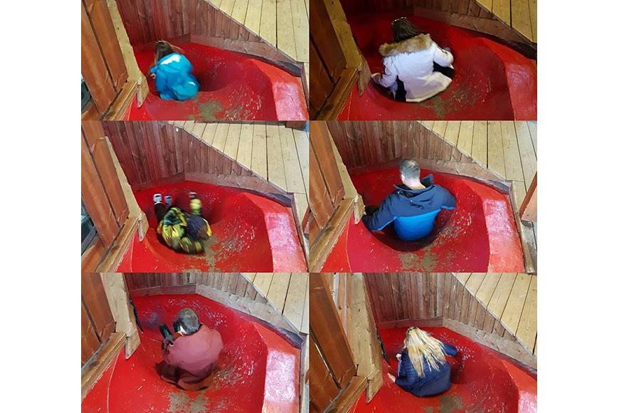A Slide to the Bathroom, Meribel, France