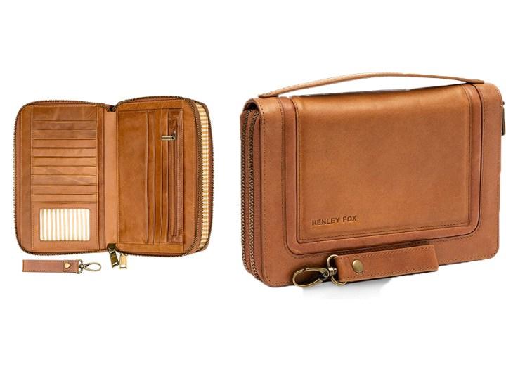Unik4art World map vintage leather passport wallet holder cover travel case accessories organizer 1LE