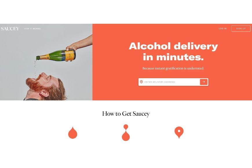 saucey homepage.