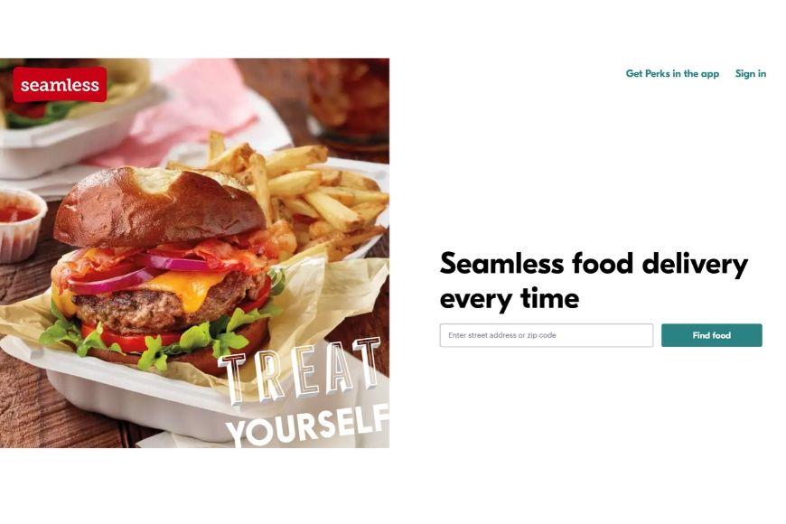 seamless homepage.