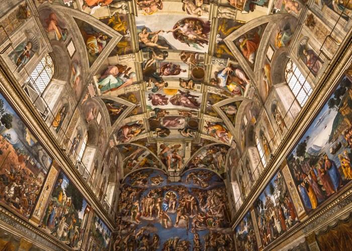 sistine chapel ceiling vatican rome.