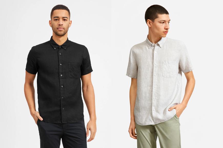 The Linen Short-Sleeve Standard Fit Shirt.