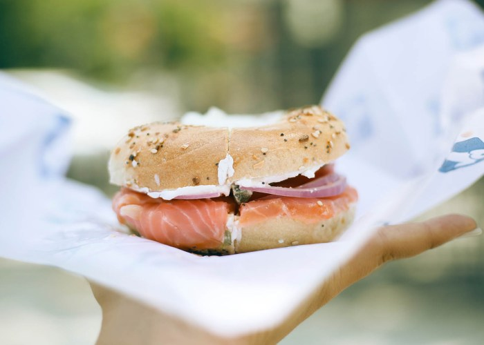 bagel with lox.
