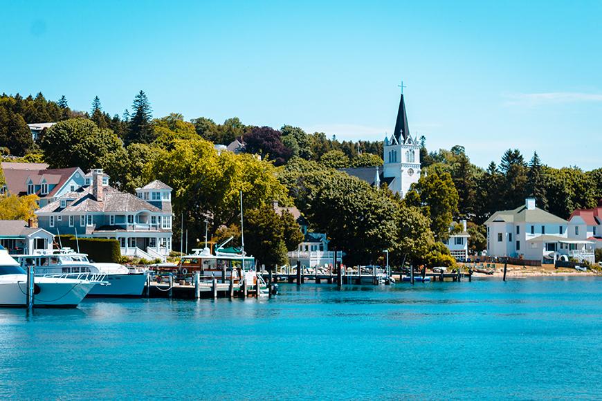 mackinac island waterfront.