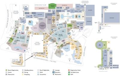 Encore Casino Property Map & Floor Plans - Las Vegas