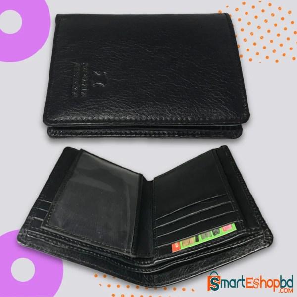 Genuine leather short wallet