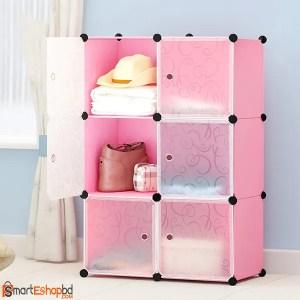 6 Cube Plastic Wardrobe