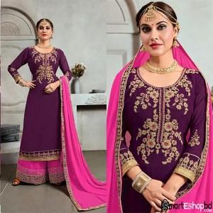 Glamorous Purple Salwar Suit