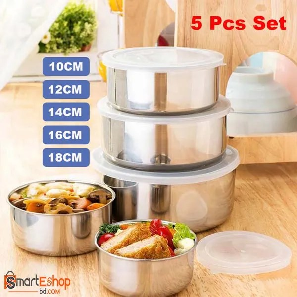 Protect Fresh Box 5 Pieces High Quality Stainless Steel Ware Set
