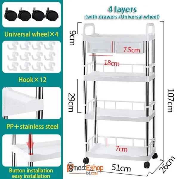 Multifunctional Storage Rack-4 TIERS