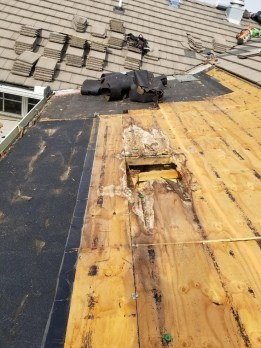 plywood and sheathing under tile roofing