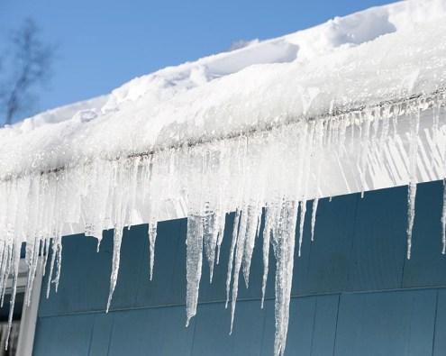 frozen debris gutters kansas city