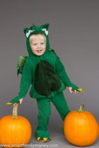 I found this dragon costume at a consignment sale for $5.