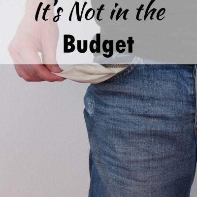 How to Tell Kids It's Not in the Budget