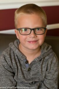 My son in his Walmart glasses.