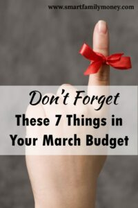 This was a great reminder! I'm glad I read this while I made my March budget.