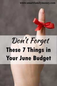 This post really helped me plan for my June budget!