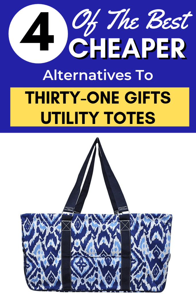 Do you love Thirty-One Gifts utility totes, but they're hurting your budget? You can have great bags and save money too! Check out these awesome cheaper utility totes. #savemoney #frugal #thirtyone #bags