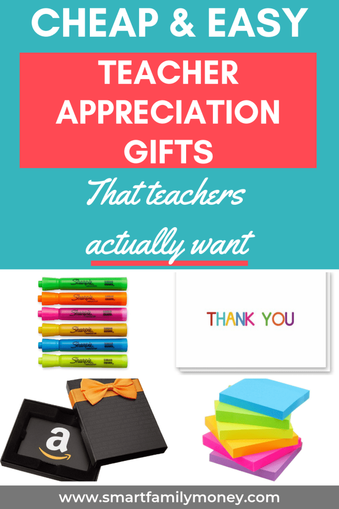 Cheap & Easy Teacher Appreciation Gifts that teachers actually want