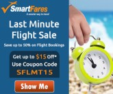 Spectacular Last Minute Flight Deals. Book Now and Get Up To $15 Off* with Coupon Code