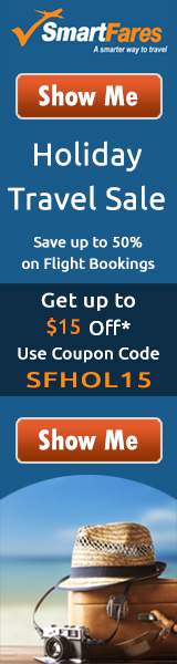 Christmas Holiday Travel Deals. Save up to 50% on Airfares. Book with SmartFares® & Get $15 Off.