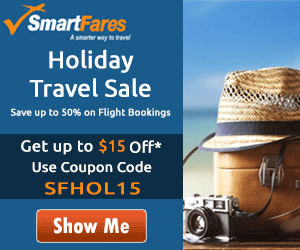 Mind-Blowing Holiday Travel Sale. Book now and get Flat $15 off with coupon code: SFHOL15